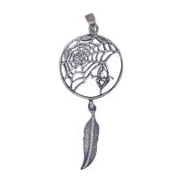 Spider Web Dreamcatcher - Silver