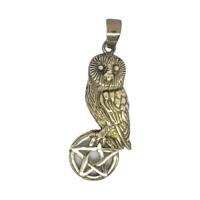 Owl on Pentagram - Bronze