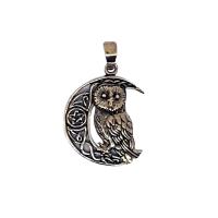 Owl Celtic Crescent - Bronze