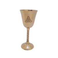 Triquetra Brass Chalice
