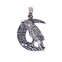 Raven Celtic Crescent - Silver