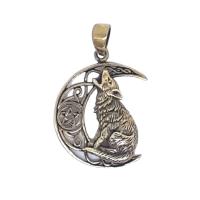 Wolf Celtic Crescent - Bronze