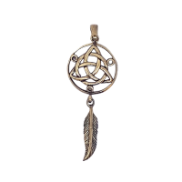 Triquetra Feather - Bronze