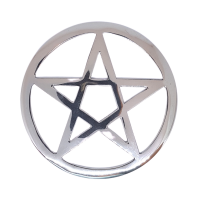 Silver Pentacle Altar Tile