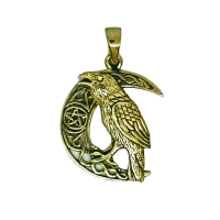 Raven Celtic Crescent - Bronze