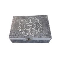 Silver Metal Box Om