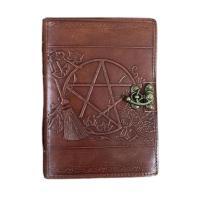 Pentacle & Broom Leather Journal