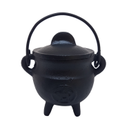 Pentacle Cauldron with Lid