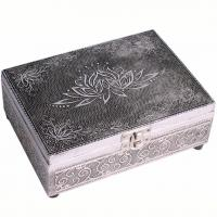 Silver Metal Box Lotus