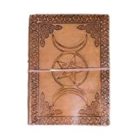 Triple Moon Leather Journal
